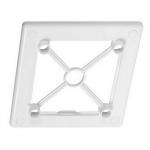 Рамка 100 RW, белый, под лицевую панель, пластик, Awenta